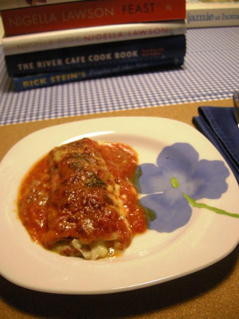 Canelones de york rellenos de puré de patata y foie