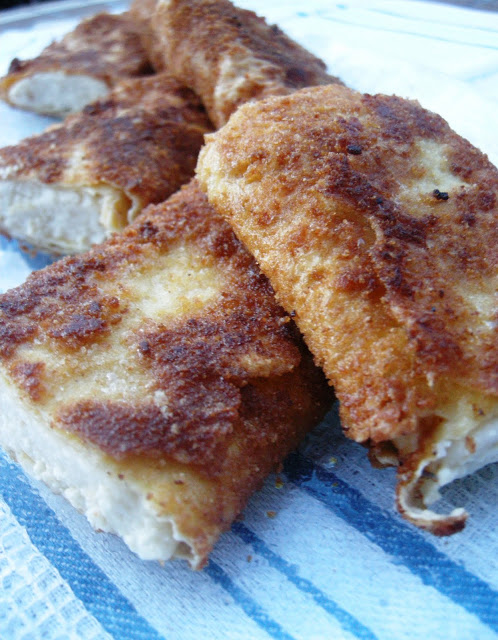 Tortillas rellenas de bechamel