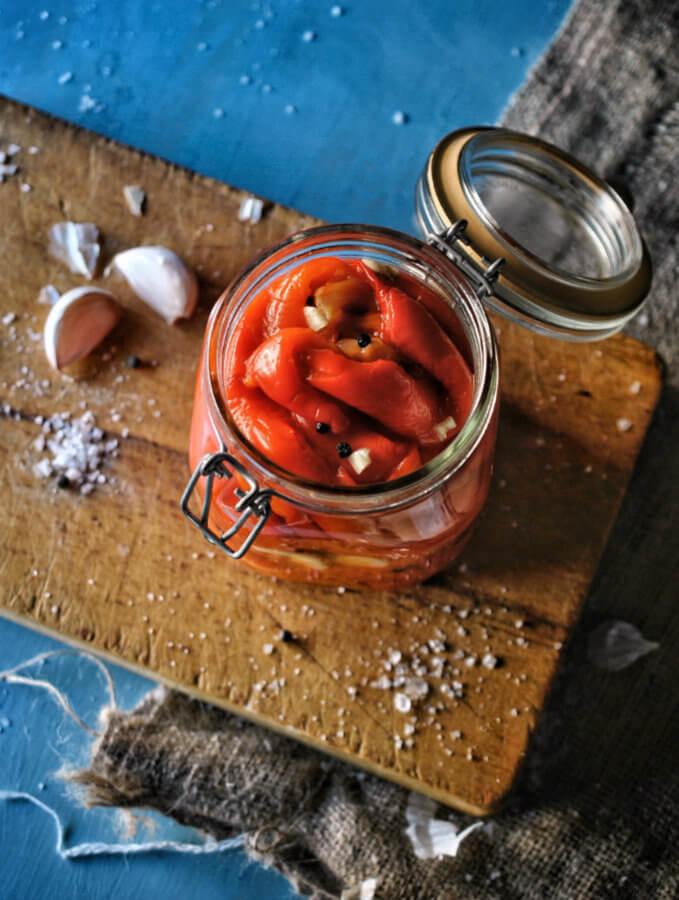 Cómo hacer pimientos asados al horno