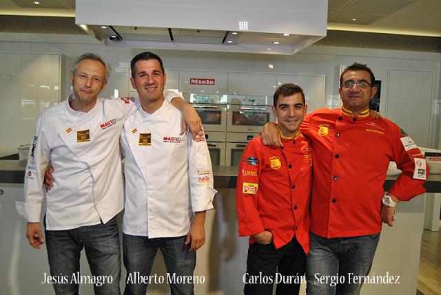 Cocinando con La Roja en Miele Centre Madrid