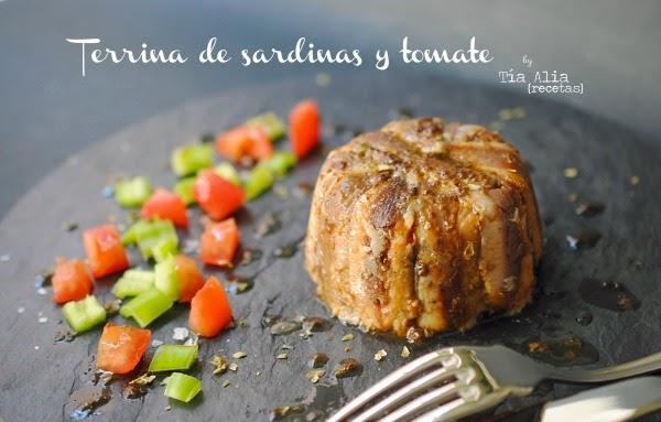 Terrina de sardinas y tomate para #retotiaalia