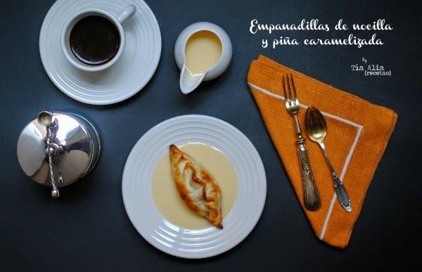 Empanadillas de nocilla y piña caramelizada [#díadeDEGUSTABOX]