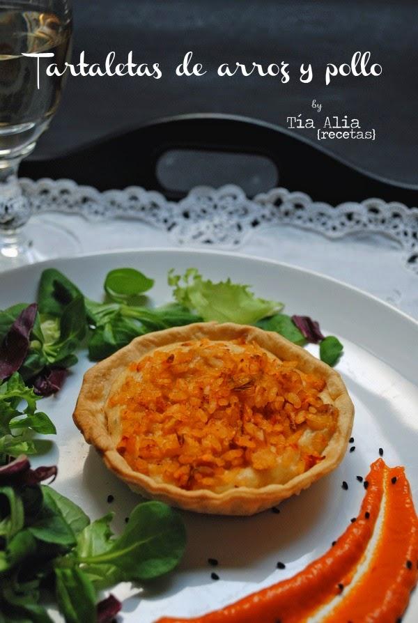Tartaletas de arroz y pollo para DIRECTAS AL GRANO