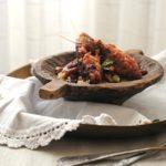 Kebabs de longaniza con cuscús y frutos especiados. Receta para el #díadelproductoaragonés