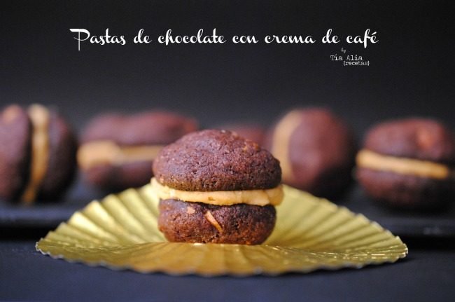 Pastas de chocolate con crema de café. Receta