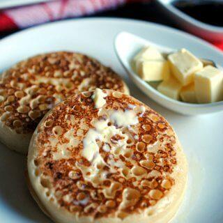 Crumpets. Receta tradicional británica