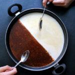 Paella dulce de dos chocolates. La receta que siempre queda (y con la que siempre quedas) bien
