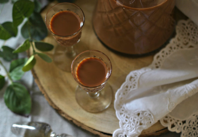 Licor de chocolate y cereza
