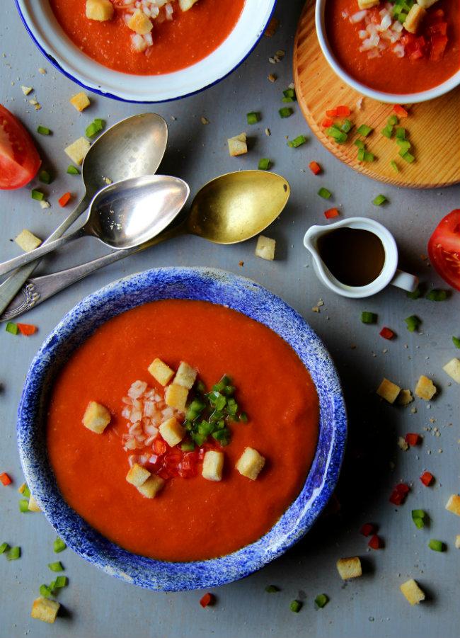 Gazpacho andaluz. Receta