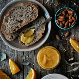 Orange curd o crema de naranja. Receta tradicional británica