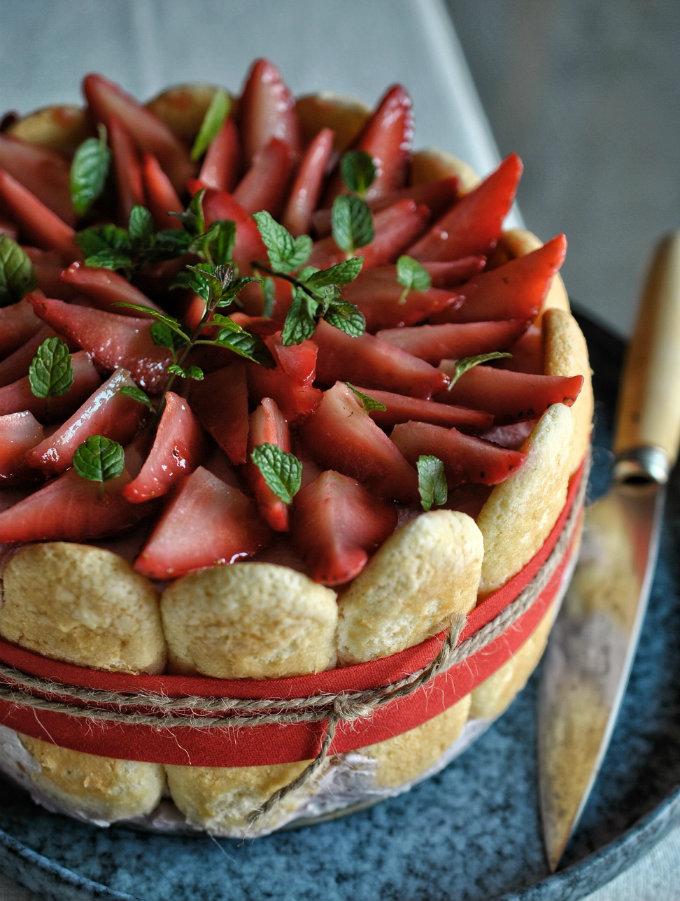 charlota o carlota de fresas