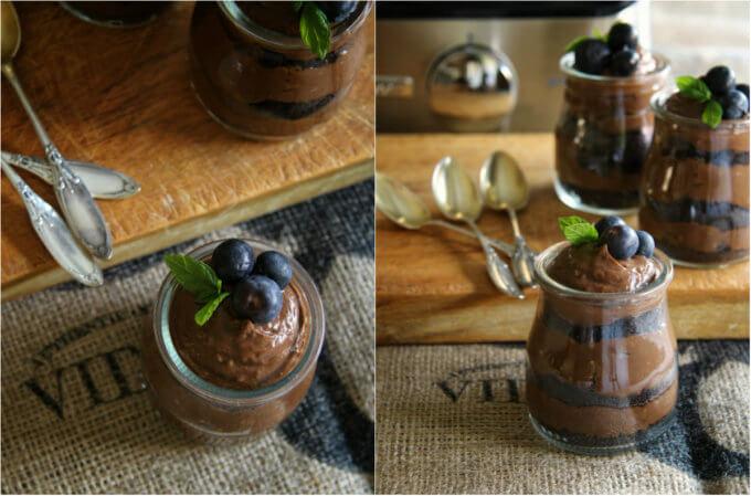 crema de chocolate y aguacate sin horno