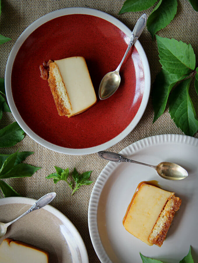 Pastel de queso con sobaos. Receta fácil sin horno