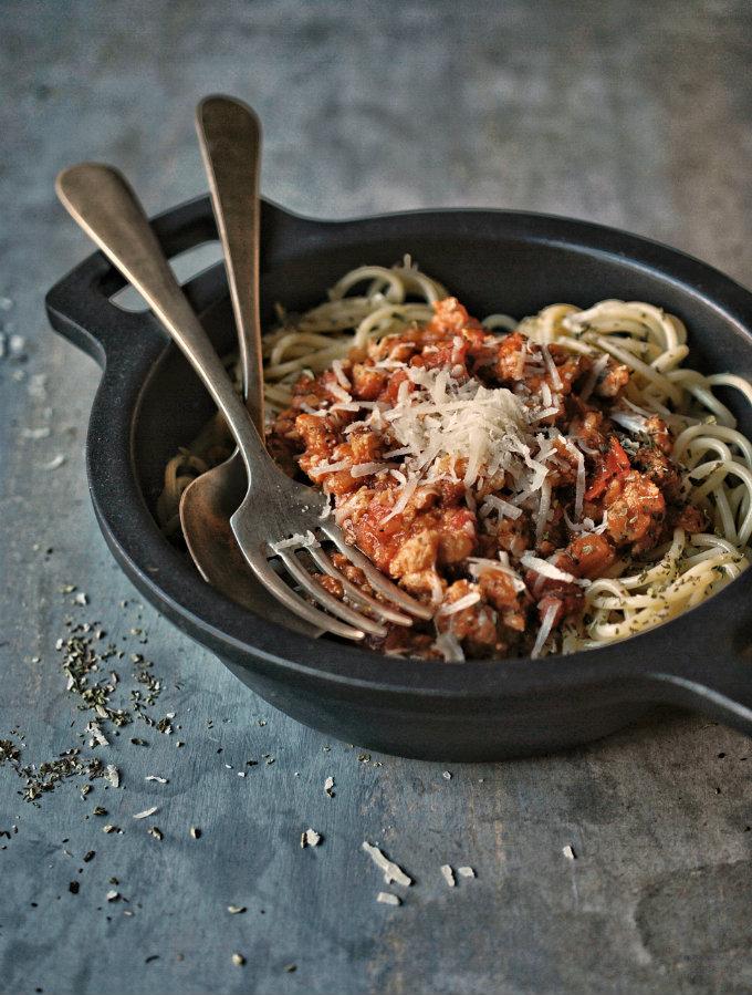 receta para preparar pasta a la bolognesa
