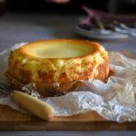 Tarta de queso de La Viña. Receta con y sin Thermomix