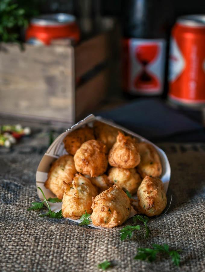 Buñuelos de patata y bacalao