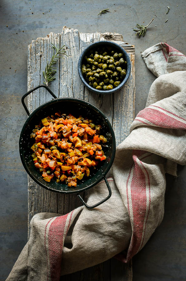 Caponata siciliana: receta tradicional italiana