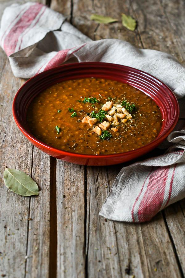 Lentejas con verduras, receta sin grasas pero con mucho sabor